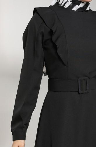 Ruffled Dress 8001-03 Black 8001-03