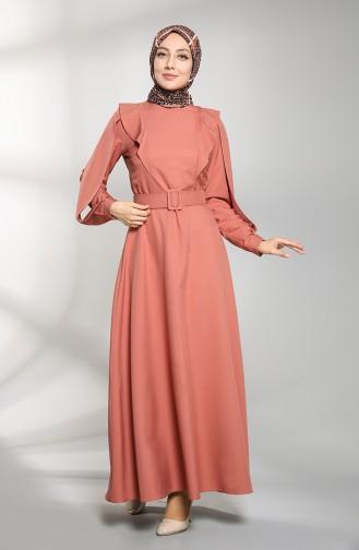 فستان زهري باهت 8001-04