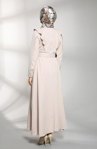 فستان رمادي فاتح 8001-05