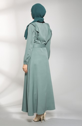 Mint green İslamitische Jurk 8001-06