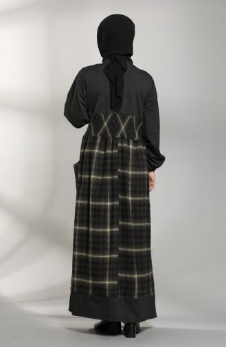 Garnish Winter Dress 21K8148-03 Black Khaki 21K8148-03