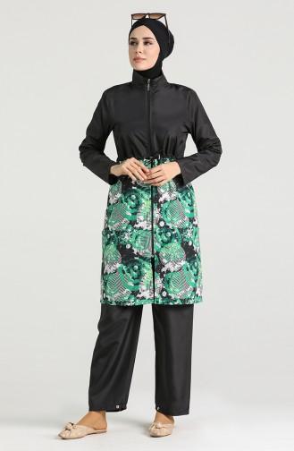 Green Modest Swimwear 4050-02