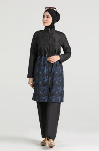 Black Swimsuit Hijab 4050C-02