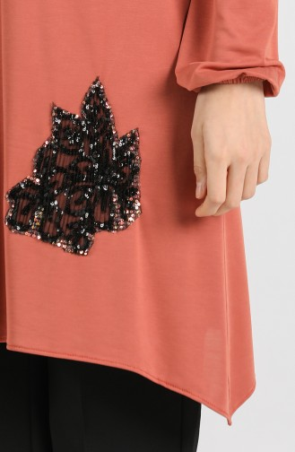 Modal Fabric Sequin Detailed Tunic 1320-03 Tile 1320-03