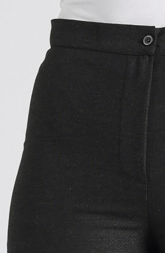 Gizli Fermuarlı Bol Paça Pantolon 1130-02 Füme