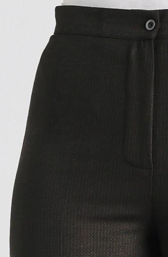 Gizli Fermuarlı Bol Paça Pantolon 1130-03 Kahverengi
