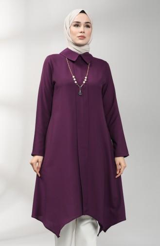 Necklace Asymmetric Tunic 5006-01 Purple 5006-01