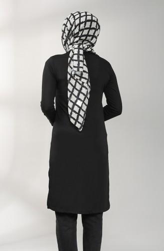 Cotton Tunic 3174-06 Black 3174-06