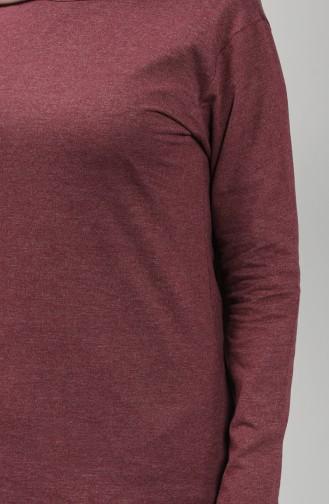 Cotton Tunic 3403h-02 Burgundy 3403H-02