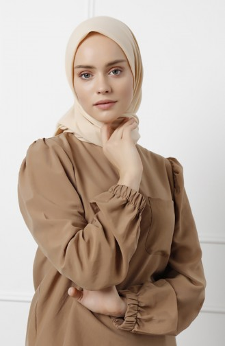 Natural Cotton Scarf 20-0009-22 Milky Coffee 20-0009-22