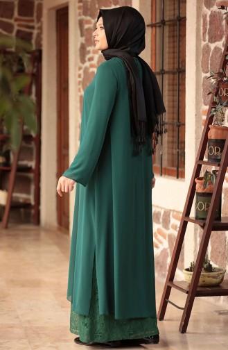 Plus Size Suit Evening Dress 3124-01 Emerald Green 3124-01