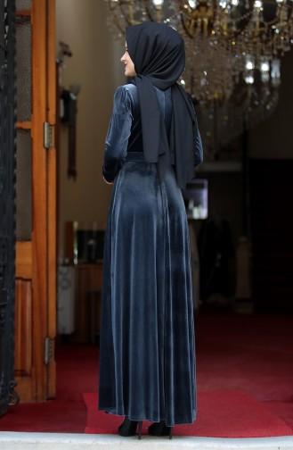 فستان فحم الإنتراسيت 3245-01