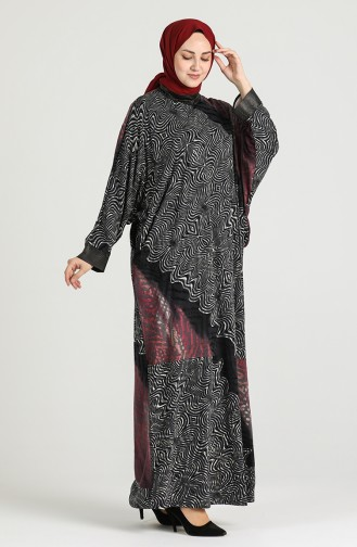 Patterned Dress 20k3014800-01 Damson 20K3014800-01