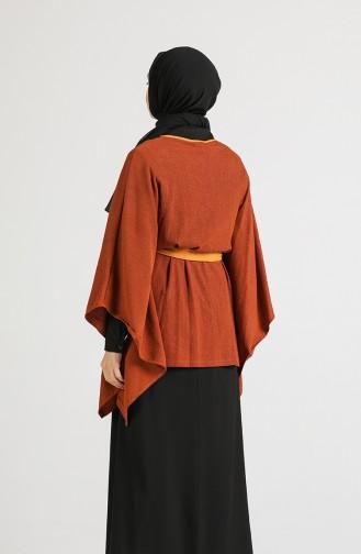 Belted Poncho Tunic 9k6904800-01 Cinnamon 9K6904800-01