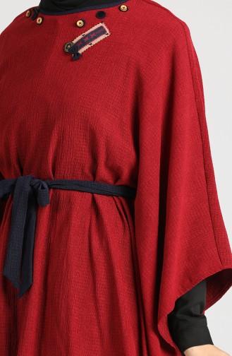 Belted Poncho Tunic 9k6904800-02 Burgundy 9K6904800-02