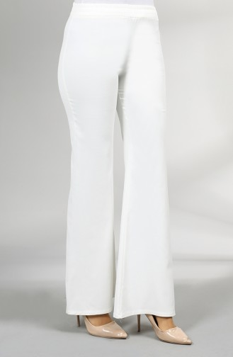 Flared Trousers 4315pnt-02 White 4315PNT-02