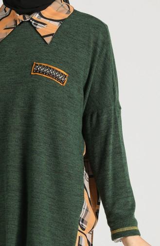 Garnili Asimetrik Tunik 9K6910800-03 Yeşil