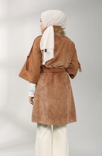 Fur Velvet Coat 20k0008100-01 Brown 20K0008100-01