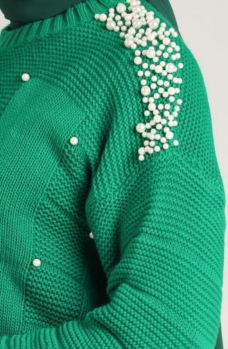 Knitwear Pearl Sweater 0617-02 Emerald Green 0617-02