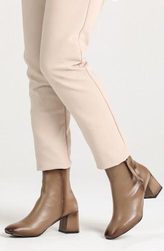 Women s Boots with Zipper Detail High Heel Scfm400-02 Mink 400-02