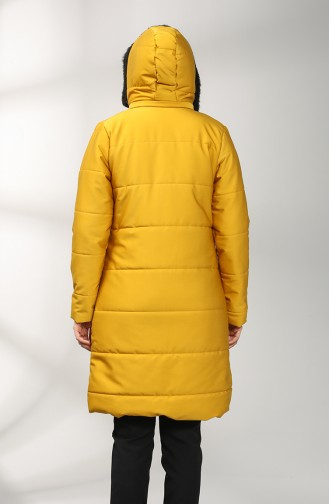 Zippered quilted Coat 1052B-01 Mustard 1052B-01