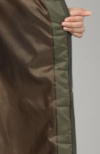 Zipper quilted Coat 1052H-05 Khaki 1052H-05
