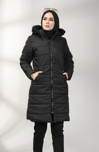Zipper quilted Jacket 1052h-06 Black 1052H-06