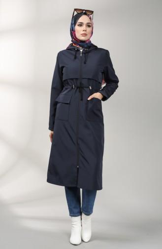 معطف أزرق كحلي 2080-05