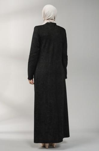 Zippered Chenille Topcoat 0135-01 Black 0135-01