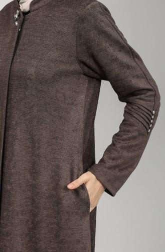Zippered Chenille Topcoat 0135-03 Dark Mink 0135-03