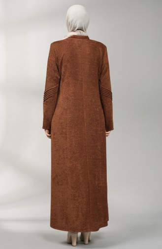 Zippered Chenille Topcoat 0135-05 Tobacco 0135-05
