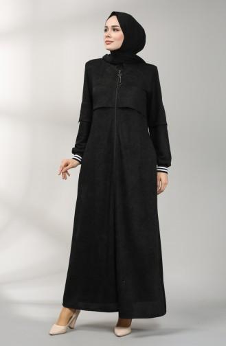 Zippered Chenille Topcoat 1570-01 Black 1570-01