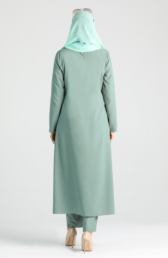Long Tunic Trousers Double Suit 4001-07 water Green 4001-07