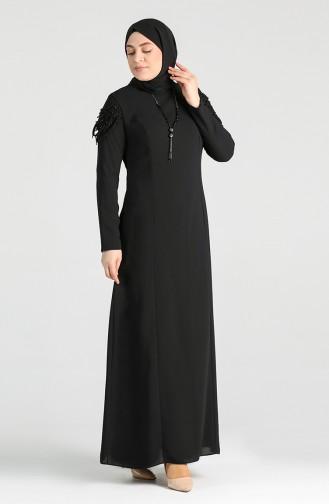 Plus Size Necklace Dress 2134-04 Black 2134-04
