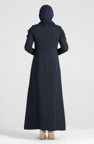 فستان أزرق كحلي 2134-06