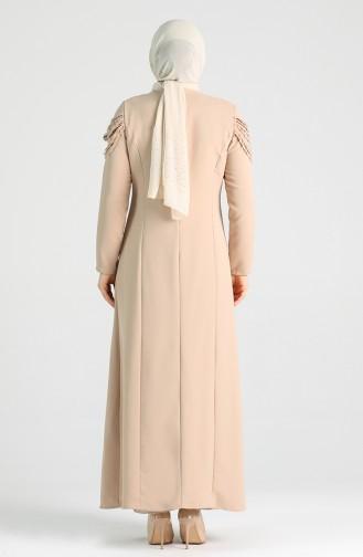 Plus Size Necklace Dress 2134-08 Mink 2134-08