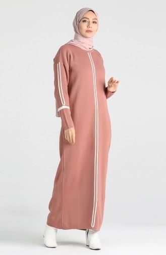 Beige-Rose Hijap Kleider 2850-02