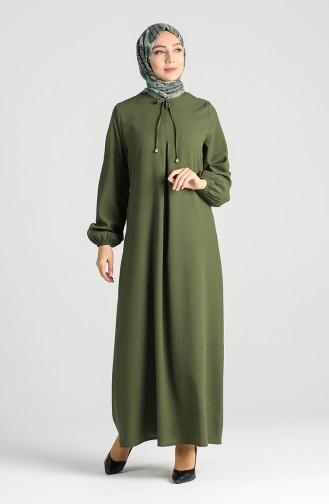 Khaki Hijap Kleider 8002-02