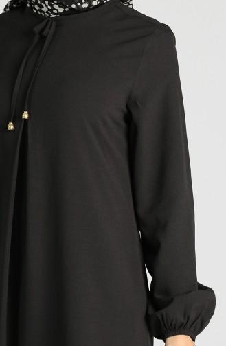 Schwarz Hijap Kleider 8002-03