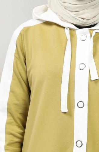 Two-thread Garnish Sports Dress 201532-02 Oil Green 201532-02