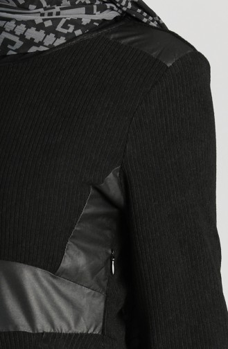 Leather Garnish Dress 5604-06 Black 5604-06