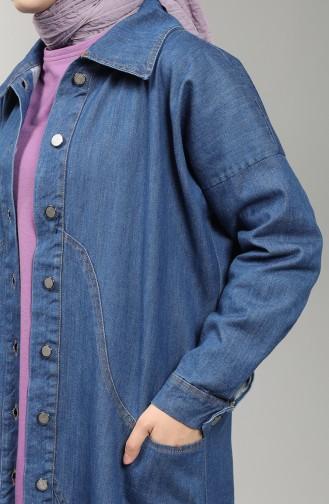 Denim Tunic with Pockets 5345-01 Navy Blue 5345-01