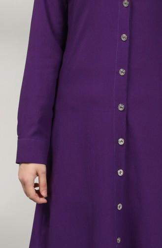 Buttoned Tunic 12002-09 Purple 12002-09