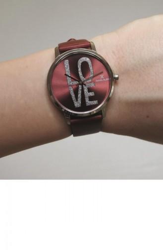 Claret Red Wrist Watch 012146F-03