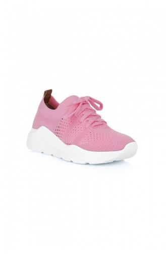 Pink Sneakers 1380.PEMBE