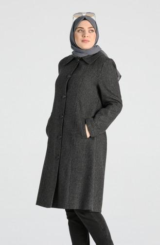 معطف طويل رمادي 0303A-01