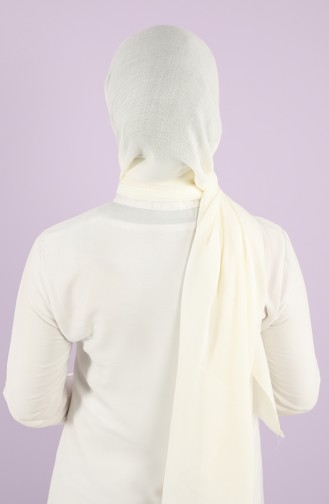 Cream Sjaal 13135-12-P