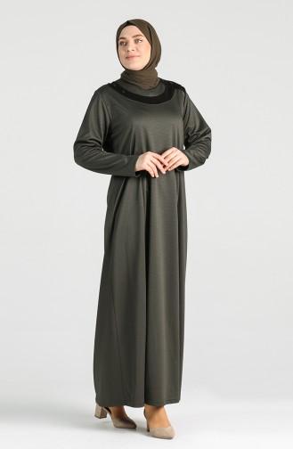 فستان كاكي 4744-02