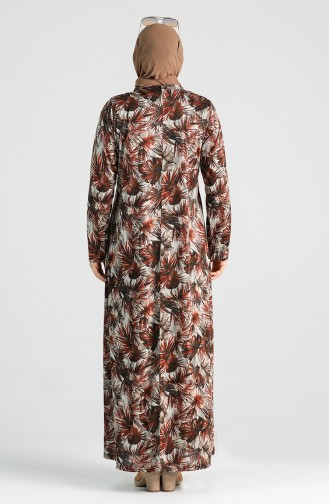 Plus Size Patterned Dress 4747b-03 Tile 4747-03