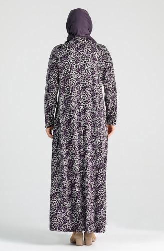 Plus Size Print Dress 4747a-03 Purple 4747A-03